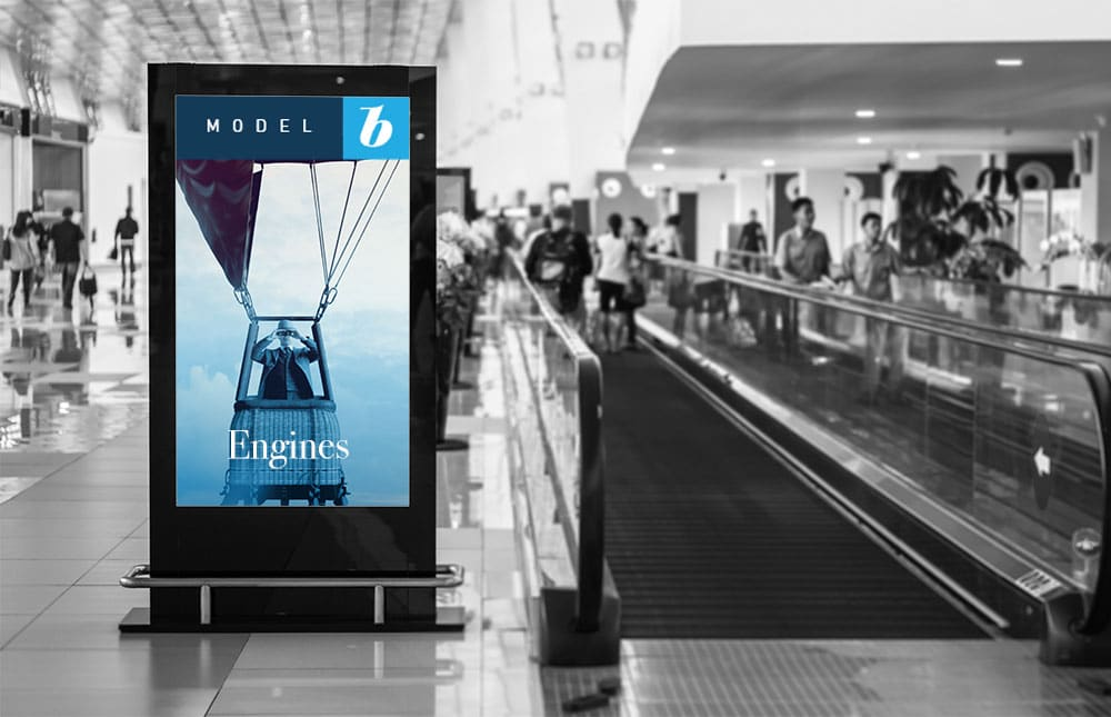 Engines Advertismenet in Airport